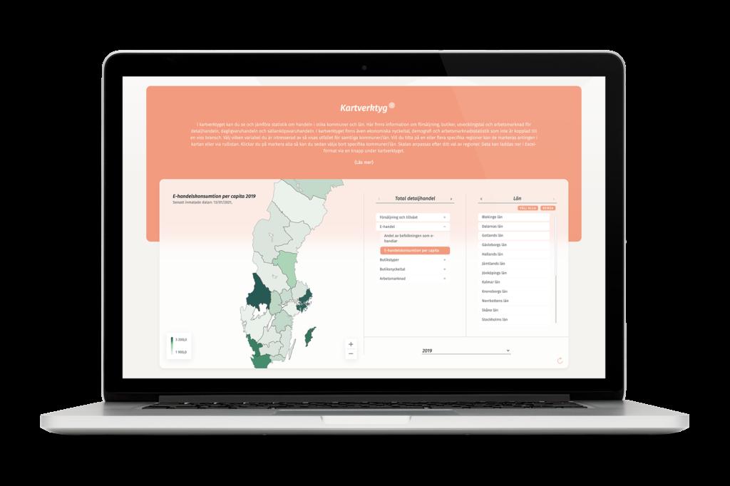 Handelsfaktas kartverktyg
